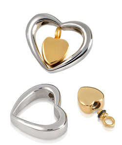 Pets At Peace - Pet Memorial Jewellery - Stainless Steel Heart of Gold