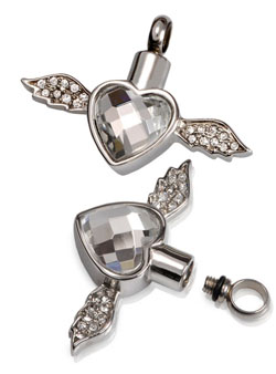 Pets At Peace - Pet Memorial Jewellery - Stainless Steel Winged Heart